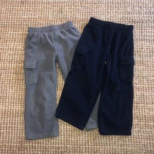 3t Toughskins fleece cargo pants gray, no stains